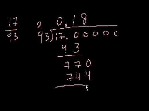 Convertire frazioni in numeri decimali