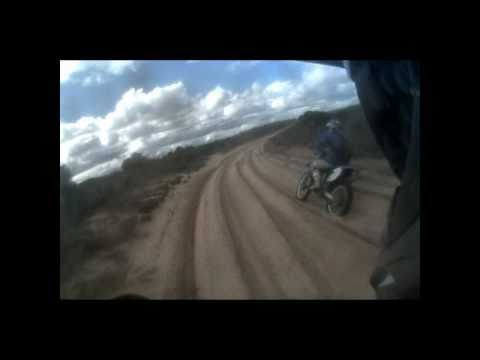 Hoobz904. High speed wet Big Desert riding and racing between mates.