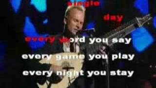 The police-every breath you take (karaoke version cover)