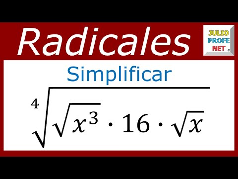 Simplificación de un radical
