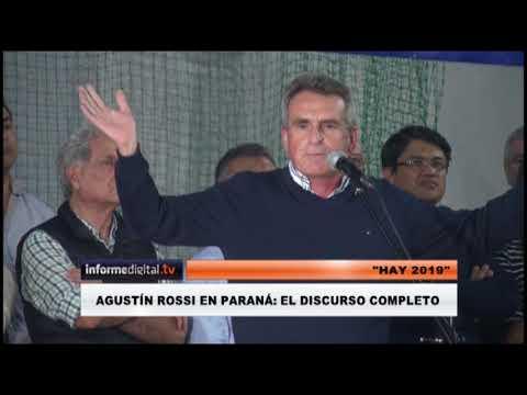 <b>&#039;Hay 2019&#039;. </b>El video completo de Agustín Rossi en Paraná