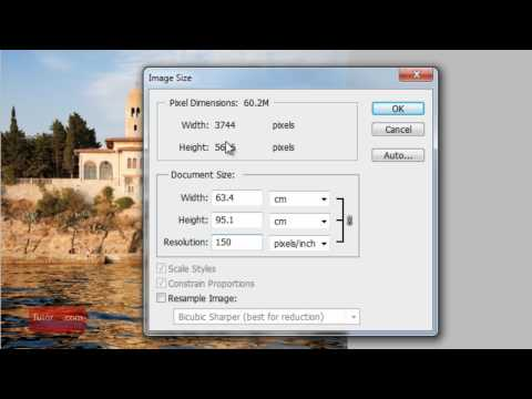 Photoshop Tutorial : How To Change the DPI [60 Seconds] Beginner