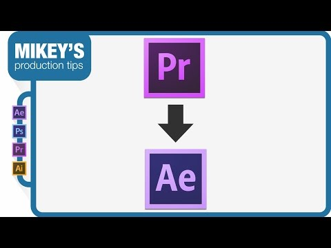 Quickly send a clip from Premiere pro to After Effects