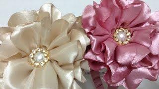 Youtube Como Hacer Flores De Tela Y Listón How To Make Fabric And