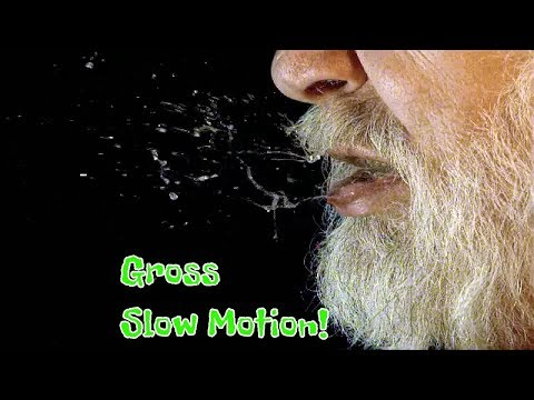 Sneeze in slow motion