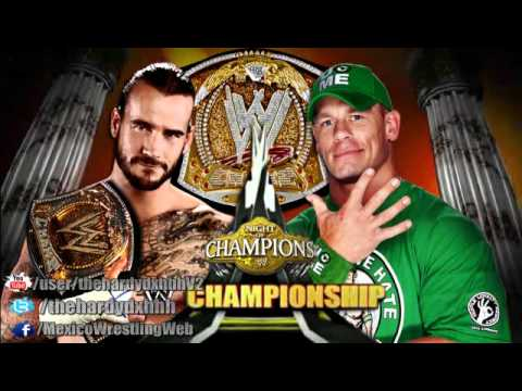 WWE Night Of Champions 2012 Official Match Card