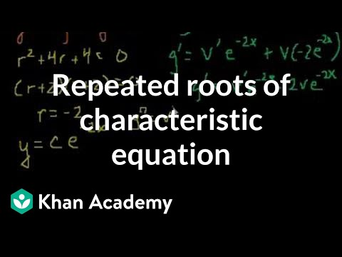 Repeated roots of the characteristic equation