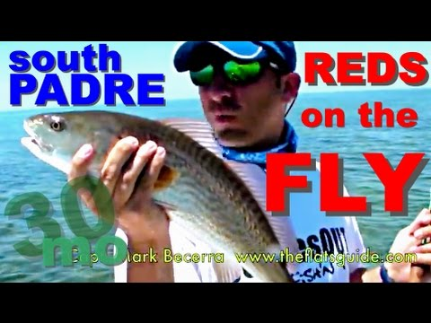 30milesOUT.com #14 SALTWATER FLY FISHING REDFISH SOUTH PADRE ISLAND TEXAS