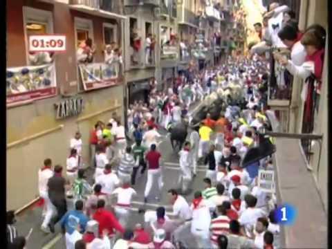Segundo encierro de San Fermín 2009 480p