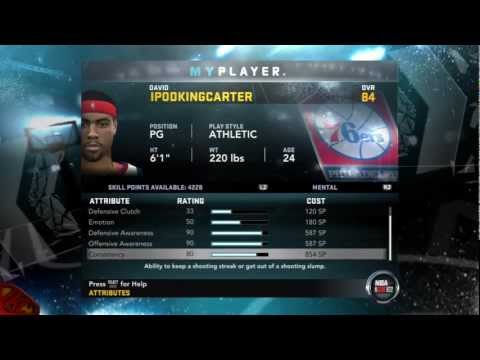 NBA 2K12: My Player - My Attributes & Info On The All-Star Weekend Feat. My Athletic PG