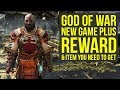 God of War New Game Plus HARDEST DIFFICULTY REWARD & Get This Item Again (God of War 4 New Game Plus