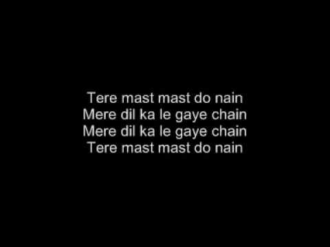 Tere Mast Mast Do Nain - Dabang - With Lyrics!