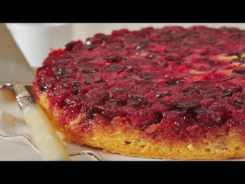Cranberry Upside Down Cake Recipe Demonstration - Joyofbaking.com