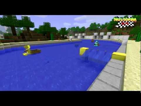 MineCraft (MG) - Boat racing 64 (Mario Kart) - Maori beach race