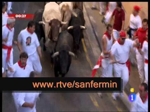 San Fermin 2011: Encierro de la ganadería de Cebada Gago