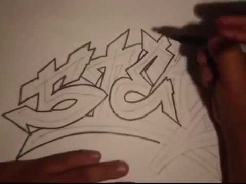 How to Draw Graffiti- (REQUESTED)- (STER)- By Wizard.wmv