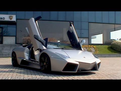 Lamborghini Reventón Roadster Start, Rev and Accelerate