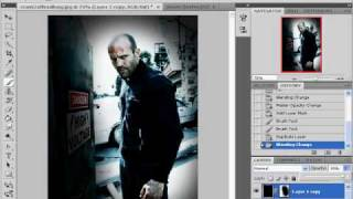 photoshop tutorial cenima effect (movie poster)