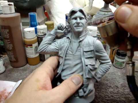 Resin Kit Painting- Han Solo Bust tutorial part 1 - UCAY9ROYqRKgEkd93n3FV9kw