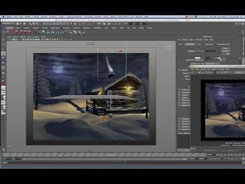Maya 2011 2D Fluid Container Smoke Effect Tutorial by Stuart Christensen