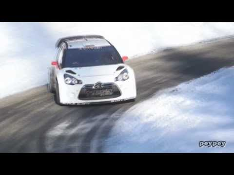 Dani Sordo - DS3 WRC Monte-Carlo 2013 Testing - asphalt and ice