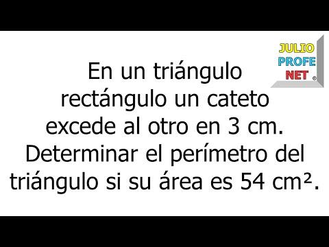 Problema geometrico con ecuacion cuadratica