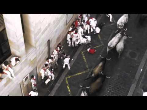 Encierro San Fermin Pamplona del día 7 de Julio de 2010  Primer encierro de los Sanfermines