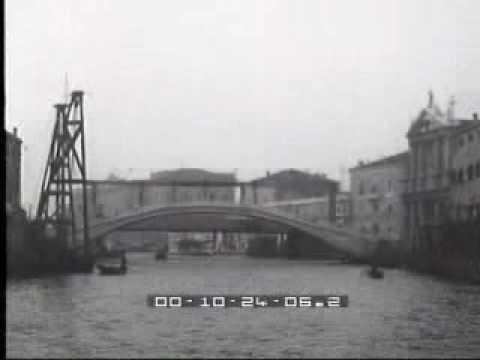 1934. Nuovo ponte in pietra sul Canal Grande