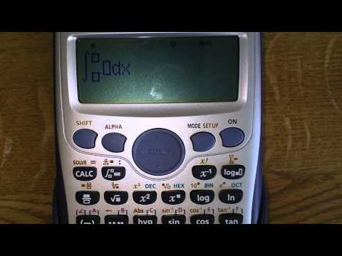 Casio fx-991ES Plus - definite integration
