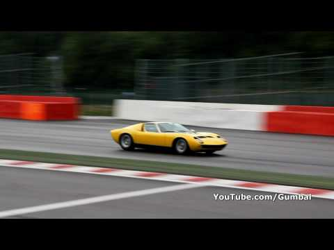 Lamborghini Miura P400 S AWESOME sound! 1080p HD