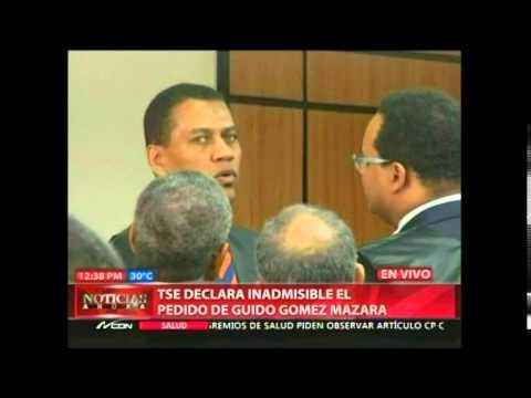 TSE declara inadmisible el pedido de Guido Gómez Mazara