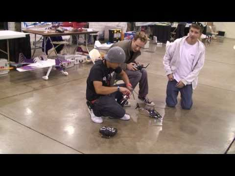 BlitzRCworks FLYBARLESS Airwolf at RCX EXPO 2011 in HD!