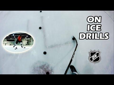ON ICE STICKHANDLING DRILLS (Danny Mikol GoPro Hockey)