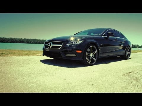 "Mercedes Benz CLS 550 on 20"" Vossen VVS-CV5 Concave Wheels / Rims"