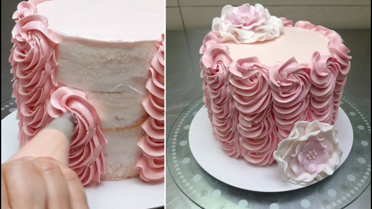 Basic Cake Decorating Techniques buttercream cake decorating. fast and easy technique