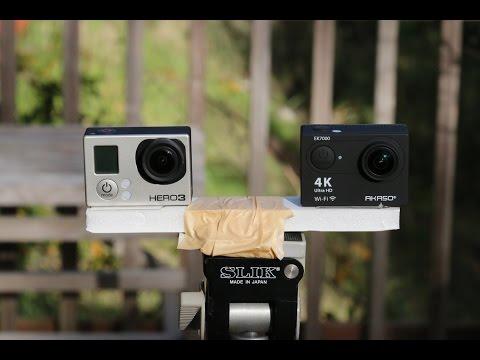 AKASO EK7000 4K WIFI Sports Action Camera vs  Gopro Hero3 Black Edition