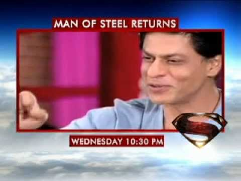 Bollywoods most popular heroes doff their hats to the most enduring superhero. Tune into CNN IBN Today at 10.30 pm   Man of Steel Releasing on 14th June.