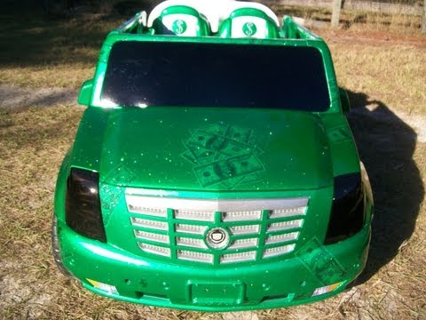 Vulgar Display Of Power Wheels Custom Cash & Candy Escalade part 1
