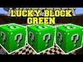 Minecraft: GREEN LUCKY BLOCK MOD (ORE TOWERS & GOLDEN APPLE WELLS!) Mod Showcase