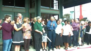 Spellman Musuem of History Ribbon Cutting on Saturday Morning