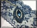 Bead DIY video tutorial  Victorian Decadence pendant| swarovski  superduo and delica beads