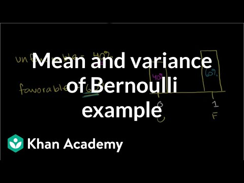 Mean and Variance of Bernoulli Distribution Example