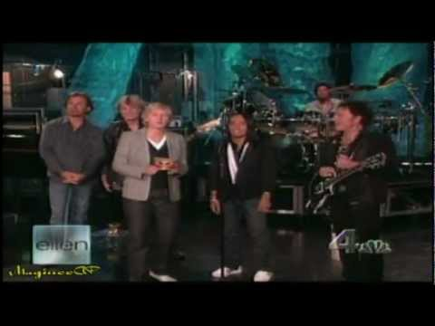 "Journey/Arnel Pineda Live @ Ellen Degeneres ""Separate Ways & Faithfully"""