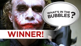 What's in the Bubbles Winner! - The Dark Knight - Can you do better? Go To WhatsInTheBubbles Channel