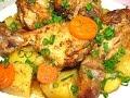 Куриные ножки с картошкой в рукаве. Рецепт. http://leoanta.ru/