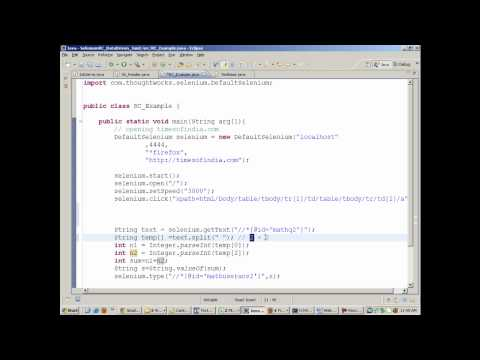 Selenium RC Handling Dynamic Objects-Selenium Training Webdriver IDE Junit TestNg