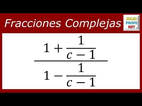 Simplificación de una fracción compleja