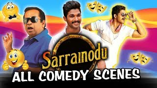 Sarrainodu All Back To Back Comedy Scenes Hindi Dubbed  Allu Arjun, Brahmanandam, Catherine Tresa