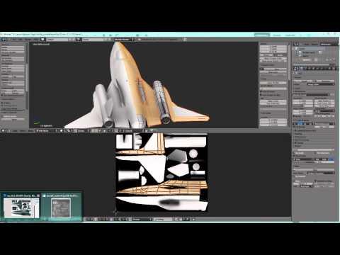 'Fractal Combat' game asset, Jet Fighter Modeling & Texturing in Blender