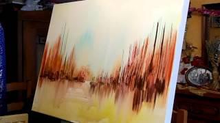 JEAN-CLAUDE LANNES : PERFORMANCE EN ATELIER - UNE TOILE EN MUSIQUE EN 12 MINUTES - VIDEO INTEGRALE
